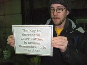 Laser-cut Form for Bronze Casting