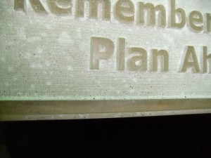 A Deep Raster Engraving With a Tapered Shoulder Makes for a Great Plaque Form