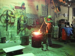 Solid Bronze Goes into the Furnace to Melt
