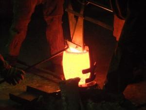 Molten Bronze in the Crucible