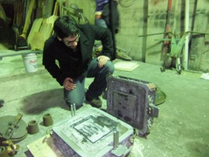 Bronze Casting Released from the Two-Part Sand Mold