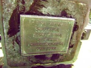 The Final Product: A Cast Bronze Plaque